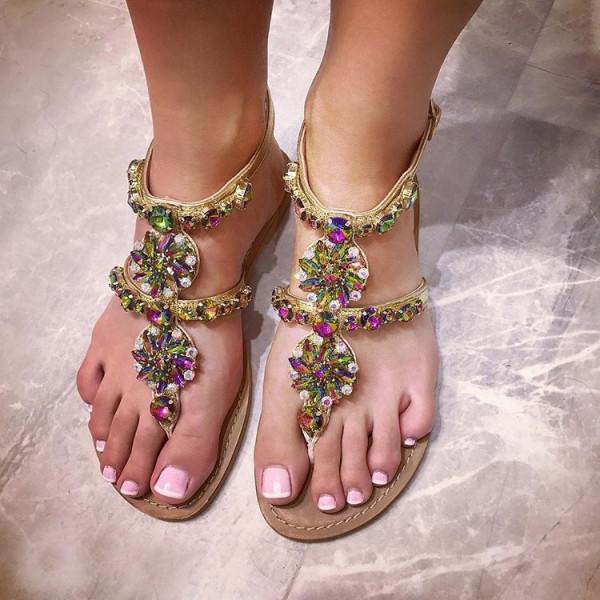 Milano kristalove sandale Rainbow-134242-31
