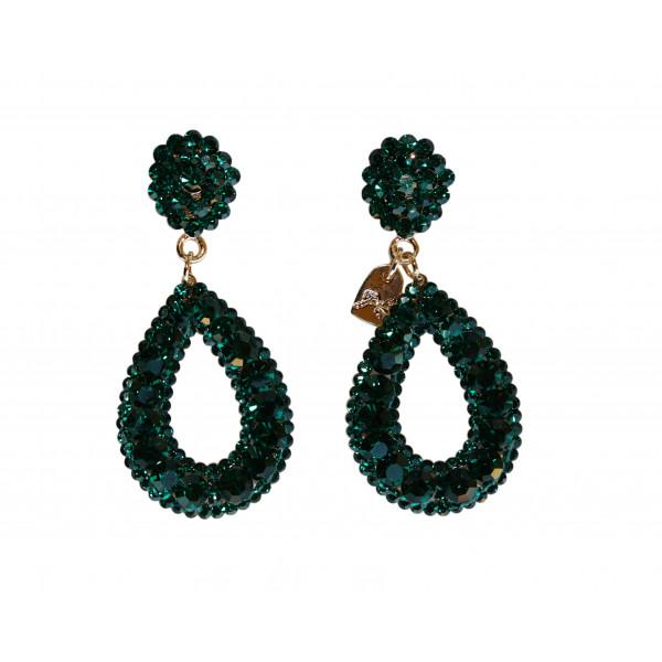 Giuliett Dona Czech Crystal Emerald Green-193814-20